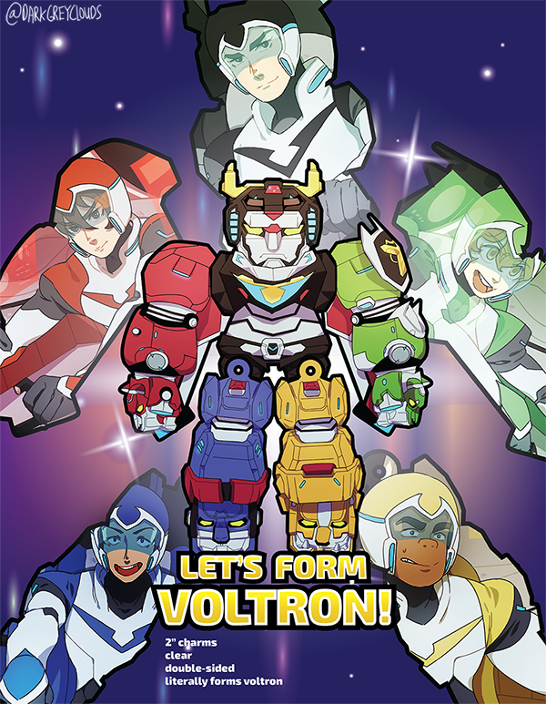 VLD. Let's Form Voltron! Charms - Thumbnail 3 | Voltron Legendary ...