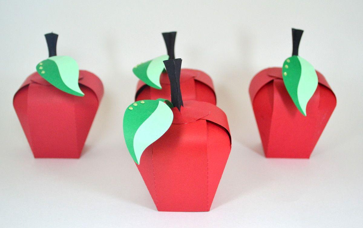 Caixinha em formato de maçã