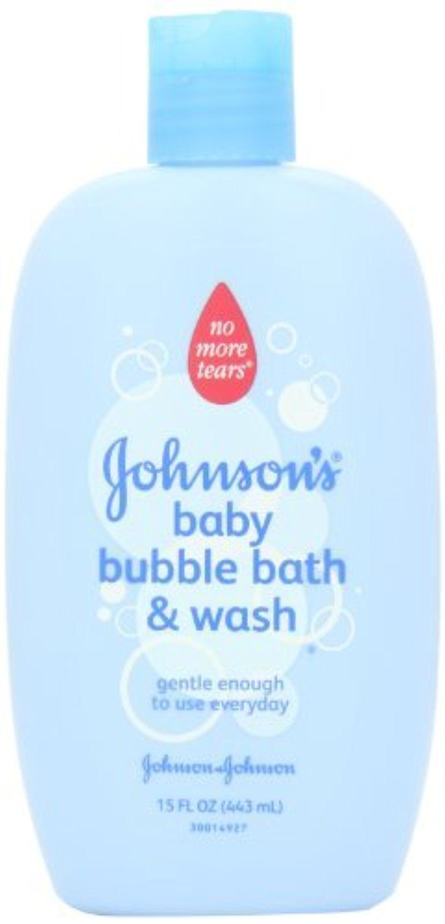 Jonnson & Johnson Baby Bath Bubble Bath And Wash 445 ml by Johnson ...