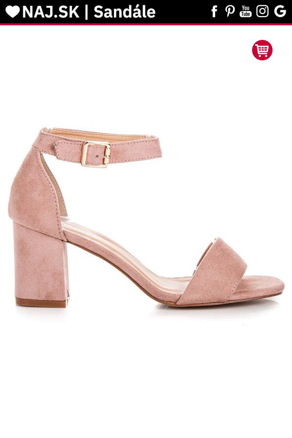 3685d3103bf8 Ružové sandále na stĺpiku VINCEZA v roku 2019