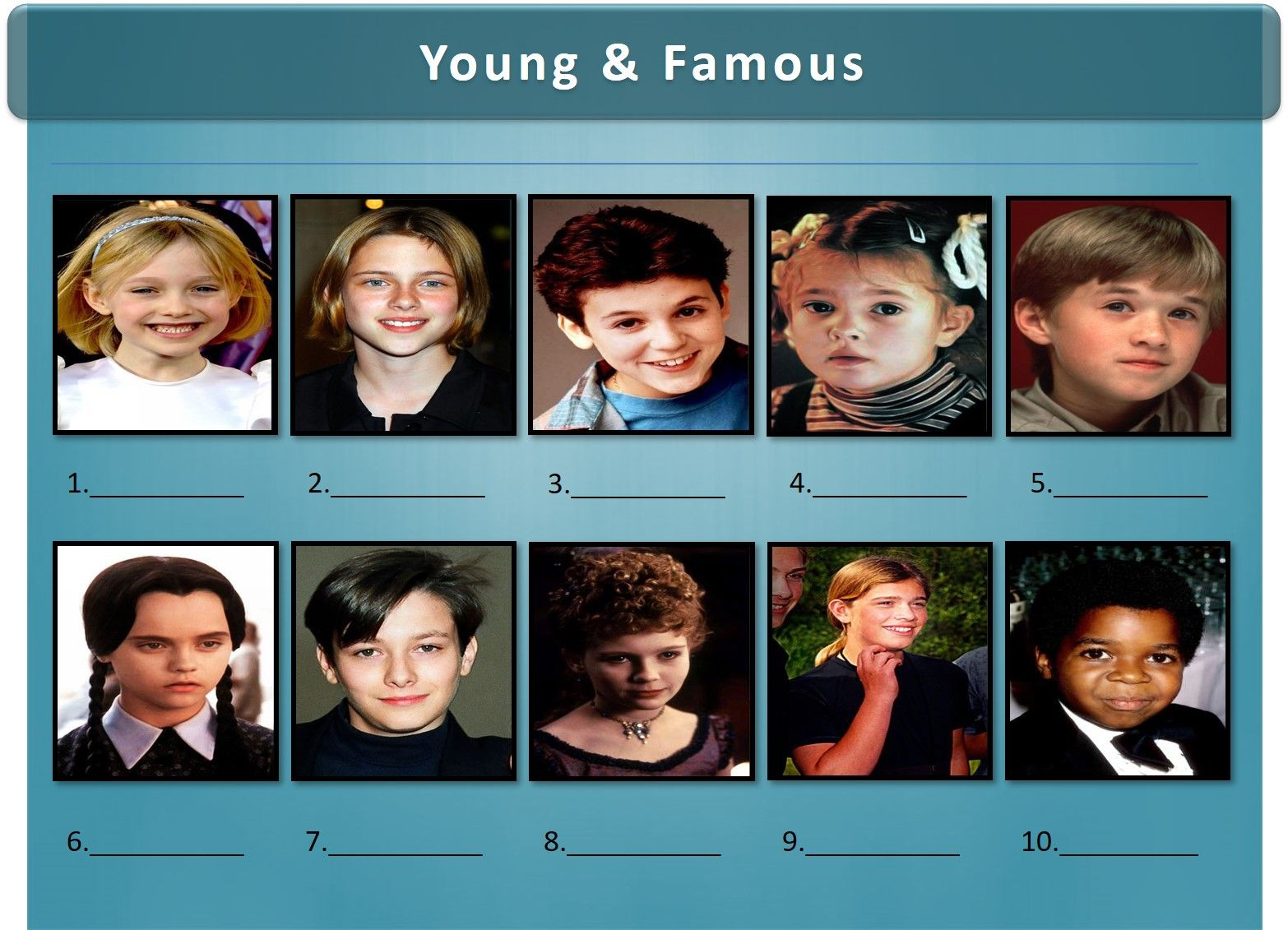 A sample picture round from one of our recent Trivia