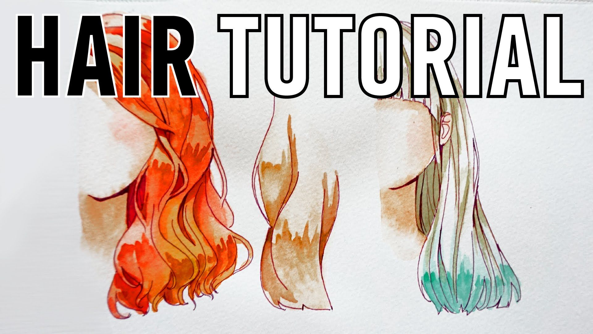 How To Paint Hair And Ears Watercolor Portrait Tutorial This