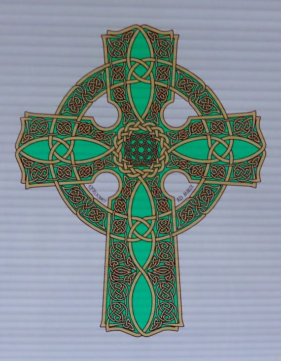 Window cling celtic cross