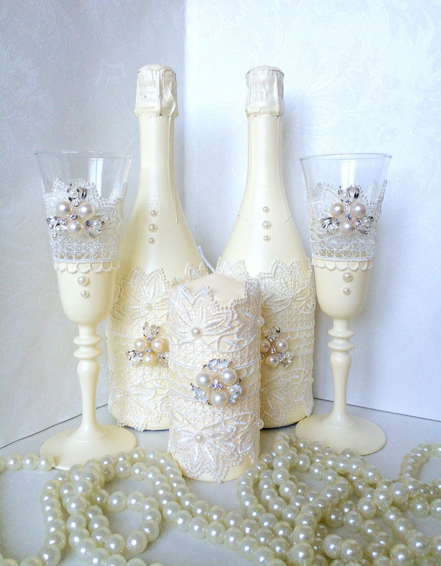 Botellas De Vidrio Decoradas Para Boda Pin De Leonor Rios En Botellas Decoradas Copas De Novios Copas