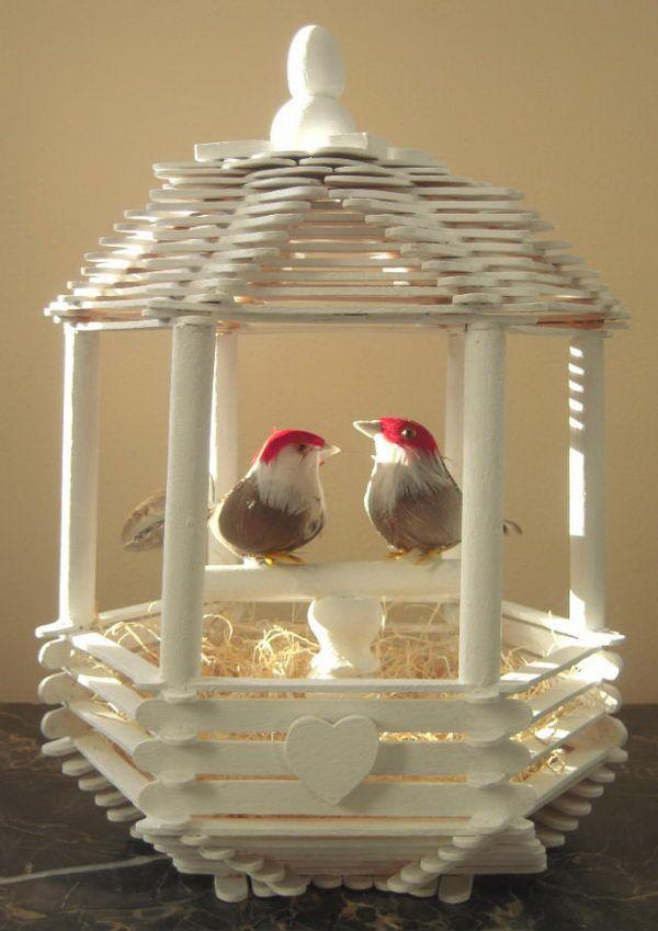 14 Love Bird Popsicle Stick House Cute Roof Idea More