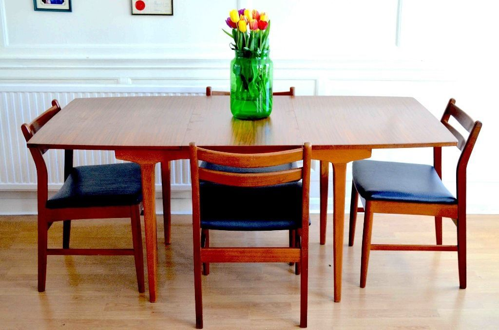 Vintage Danish Style Extending Table And 4 Mcintosh Teak Chairs Delivery United Kingdom Gumtree Teak Chairs Extending Table Danish Style