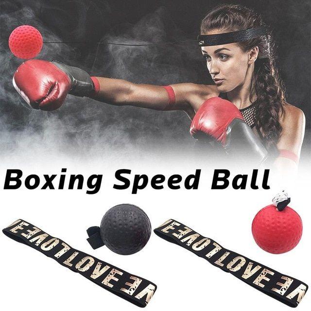 Kick Boxing Reflex Ball Fighting Speed Training Punch Ball Head Band Muay Tai MM
