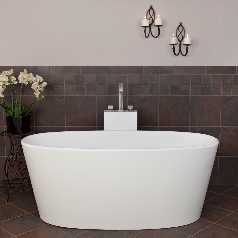 Lucina Resin Freestanding Tub - Bathtubs - Bathroom