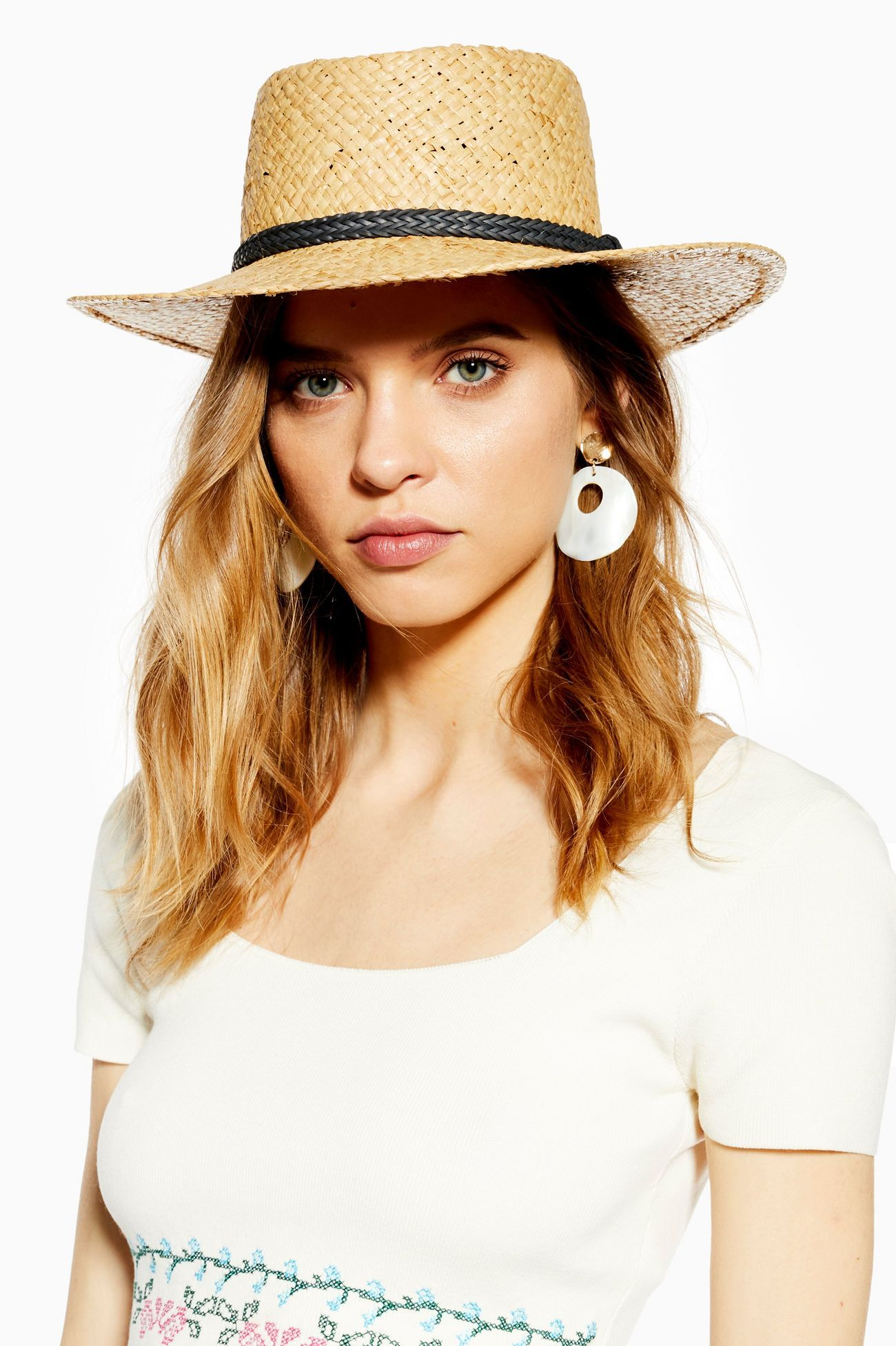 90527298fc10b This woven straw flat top hat creates stylish summertime styling. Straw  accessories are making a major impact and we just can't get enough off the  timeless ...