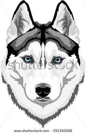 Siberian Husky wall art - 19.5