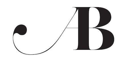 AB #Monogram / Abigail Borg / by Jean-François Porchez / #ligature #typography