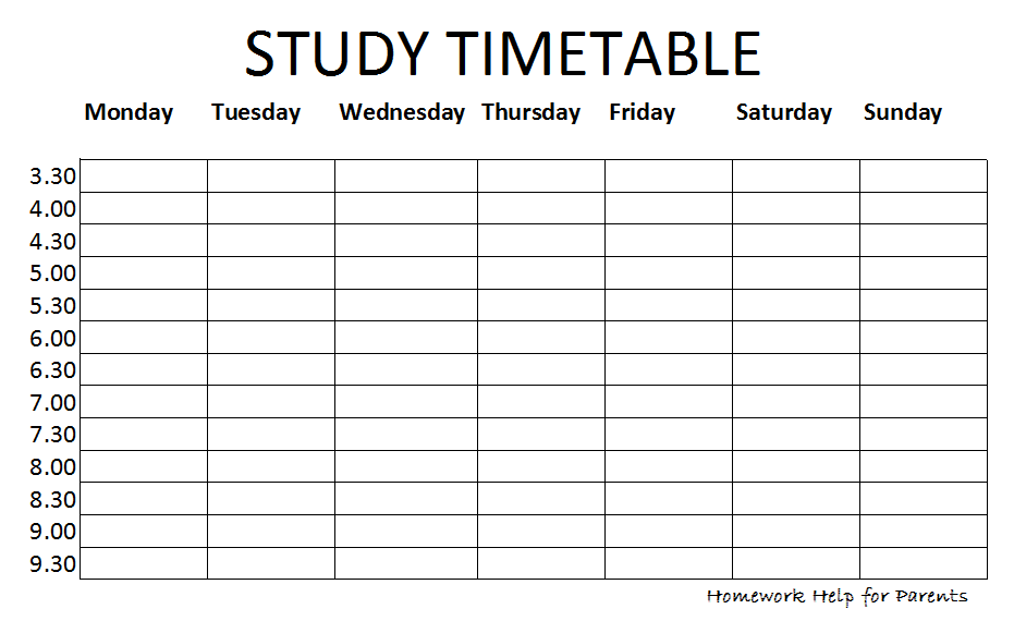 How To Create A Revision Timetable And Revise Effectively