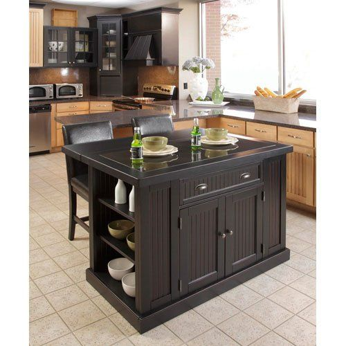 Home Styles 5033-949 Nantucket Kitchen Island and Stools, Distressed Black Finish Home Styles http://www.amazon.com/dp/B007NZX3HM/ref=cm_sw_r_pi_dp_ZgQYvb1AEMFFM