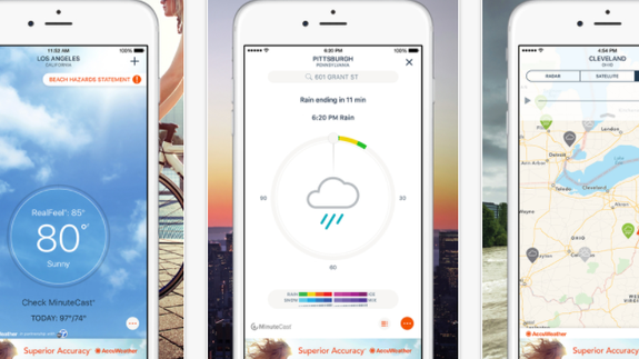 AccuWeather for iPhone might be watching you without your