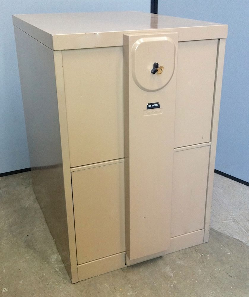 Security 2 Drawer Filing Cabinet With Chubb Mersey Lock Locking Bar