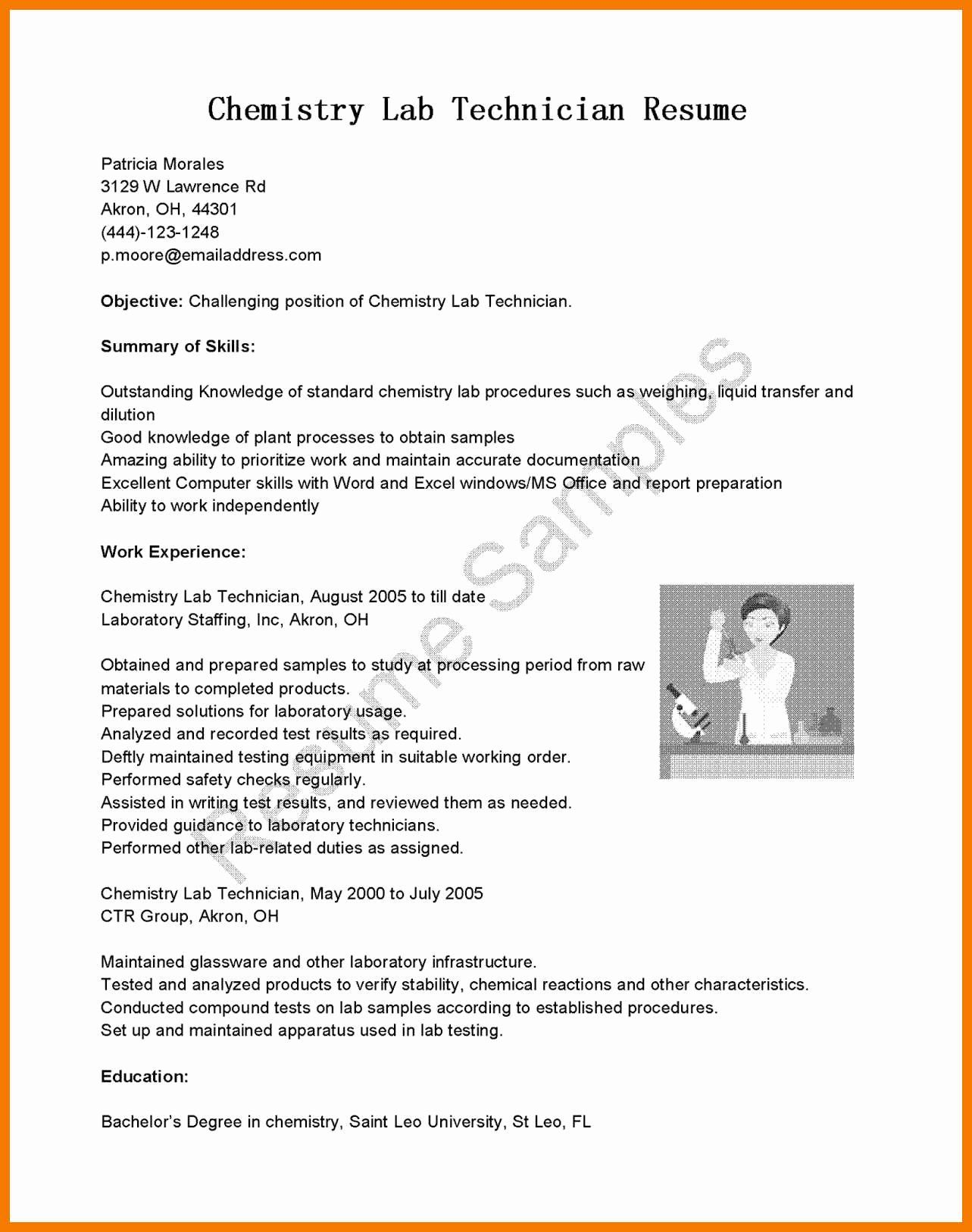 Clinical Laboratory Scientist Resume Beautiful 12 13