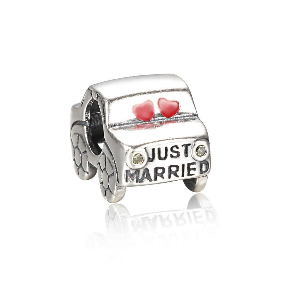 Just Married Car Charm 925 Sterling Silver Pandora Compatible
