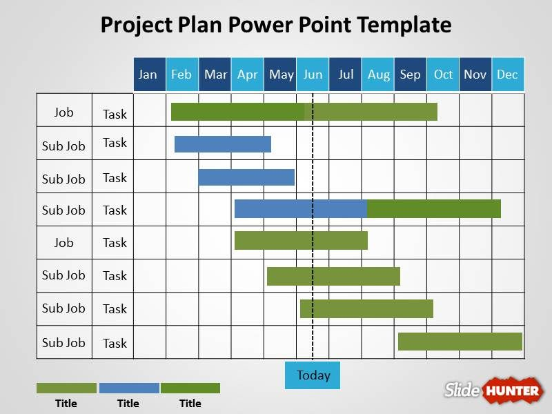 Project Gantt Chart Template for PowerPoint presentations with ...