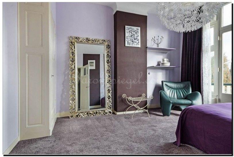 Mooie grote spiegel met zilveren krullijst in retro vintage
