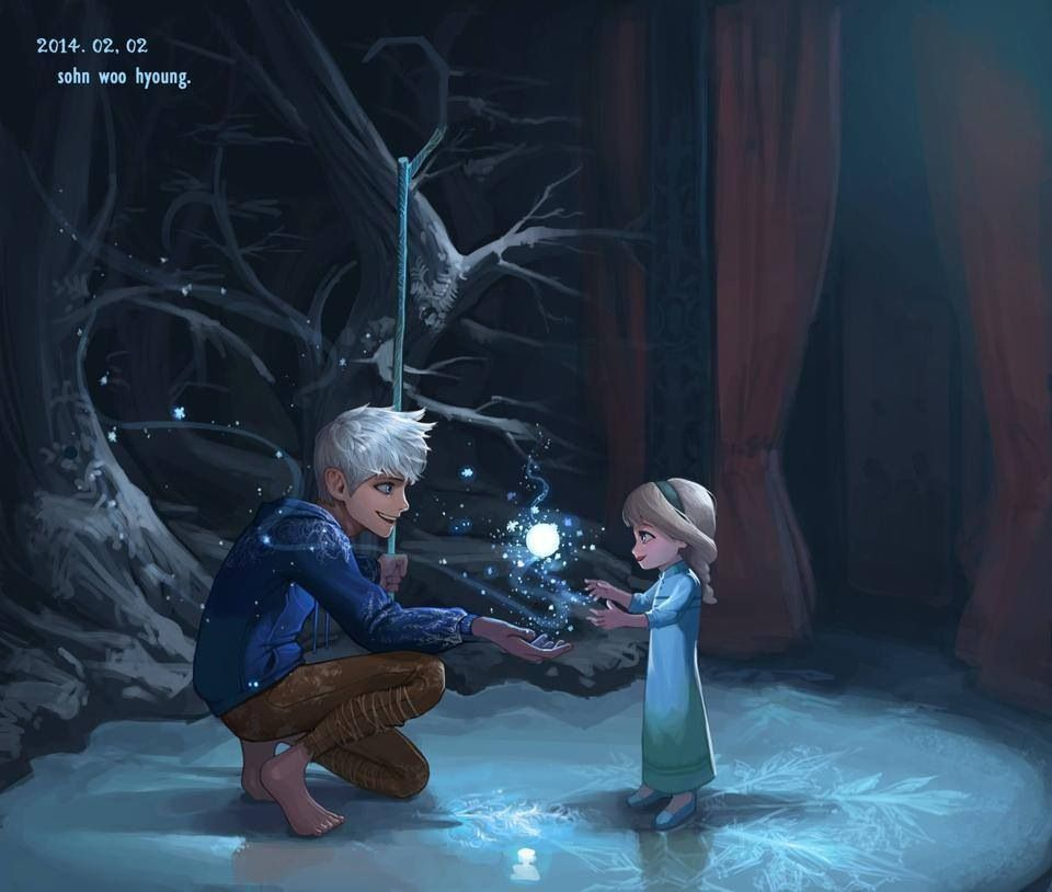 Frozen Tangled Guardians Disney Jack Frost E Personagens Disney