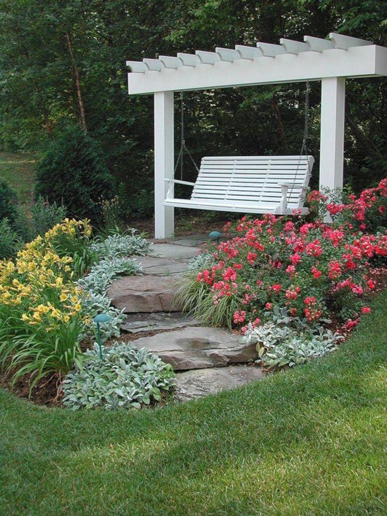 Retreat Garden Swing Idea Small Backyard Landscaping Backyard Landscaping Backyard