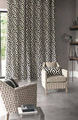 tissu pour rideaux motif th or me cayley casamance. Black Bedroom Furniture Sets. Home Design Ideas
