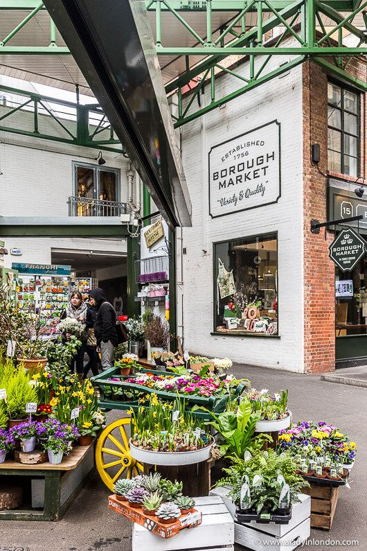 Borough Market is one of the most famous markets in London. Click through for more pictures on the A Lady in London blog. #boroughmarket #market #london