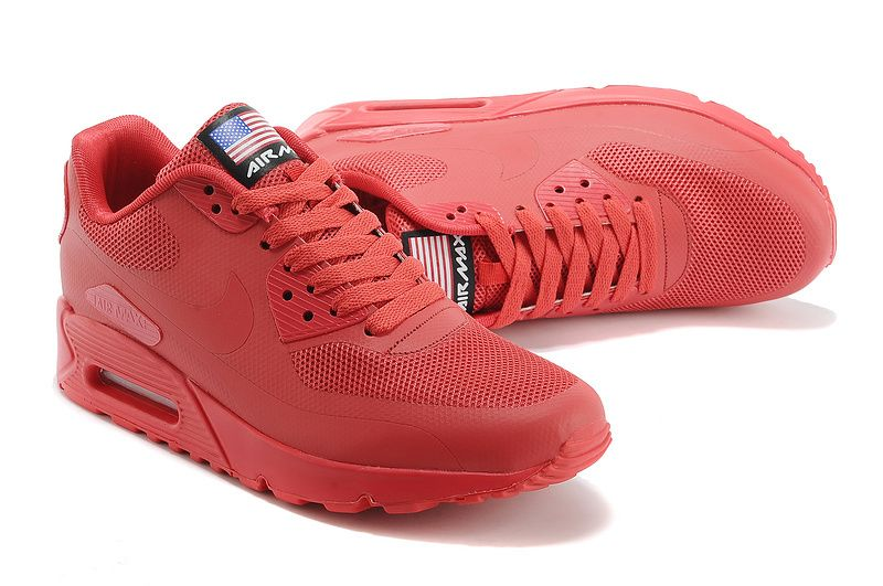 Nike Air Max 90 Hyperfuse Mens UK Cheap - Red NK-shoes226