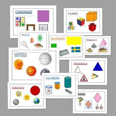 Figuras Geometricas Recursos Para Imprimir Y Trabajar Con Los Peques Fichas Para Ensenar Y Recon Figuras Geometricas Geometrico Figuras Y Cuerpos Geometricos