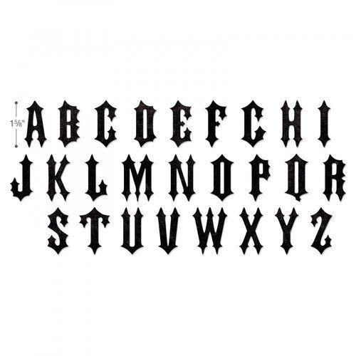 Sizzix Tim Holtz Alterations Gothic Bigz XL Alphabet Die