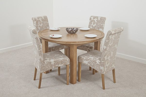 Dining Room Sets With Fabric Chairs Oak Dining Sets Fabric