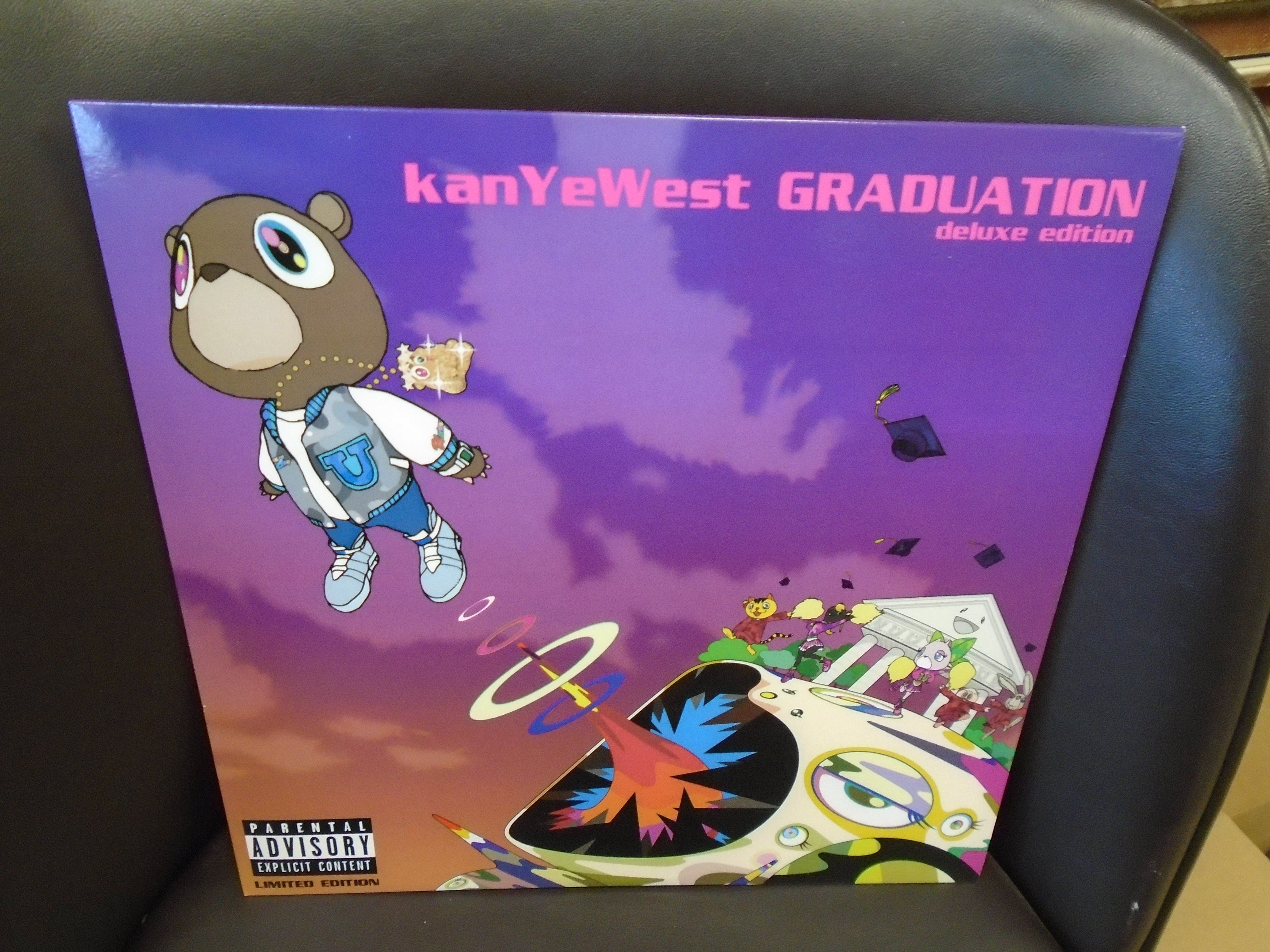 Kanye West Graduation 2x Lp New Clear Clear Pink Colored Vinyl Kanye West Graduation Kanye West Kanye