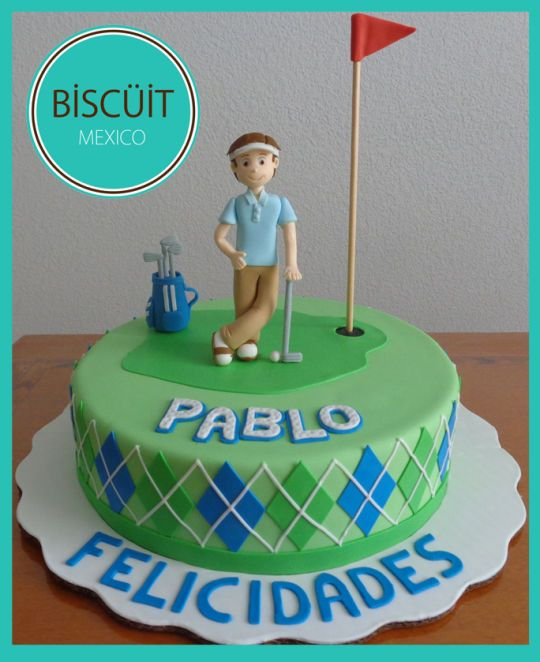 Golf Themed Birthday Cake Wedding Party Celebration Cakes