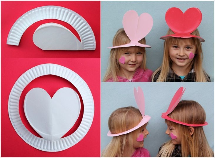 Diy paper plate hats for the kids  sc 1 st  Pinterest & Diy paper plate hats for the kids | Valentine\u0027s at school ...