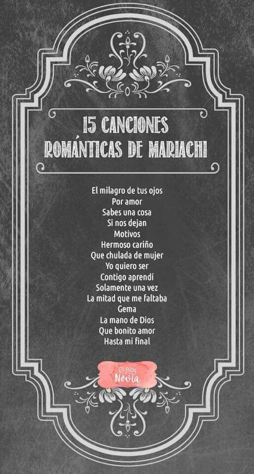 15 Canciones Romanticas De Mariachi Para La Boda