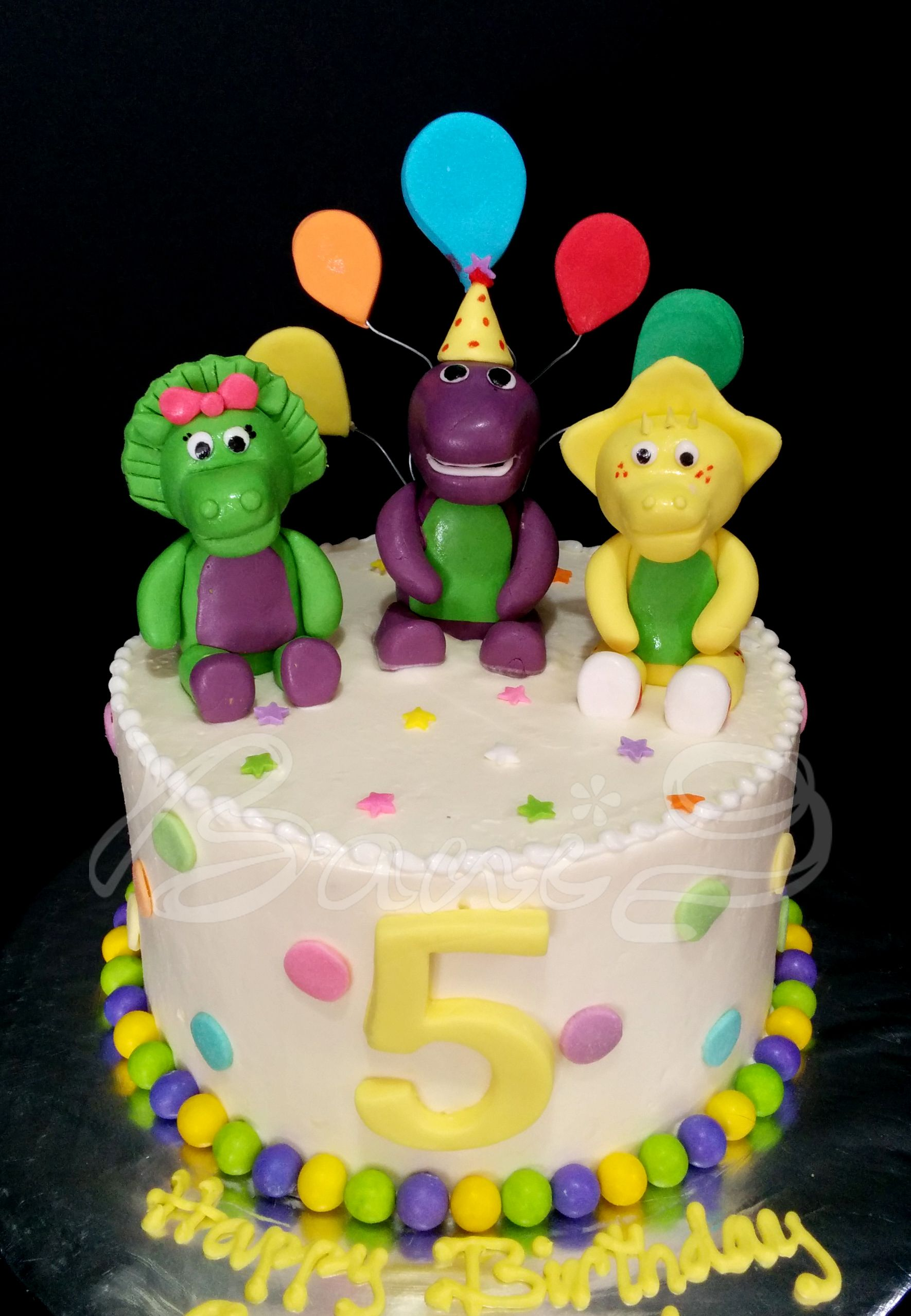 barney and friend cake cake for boy Barney birthday party