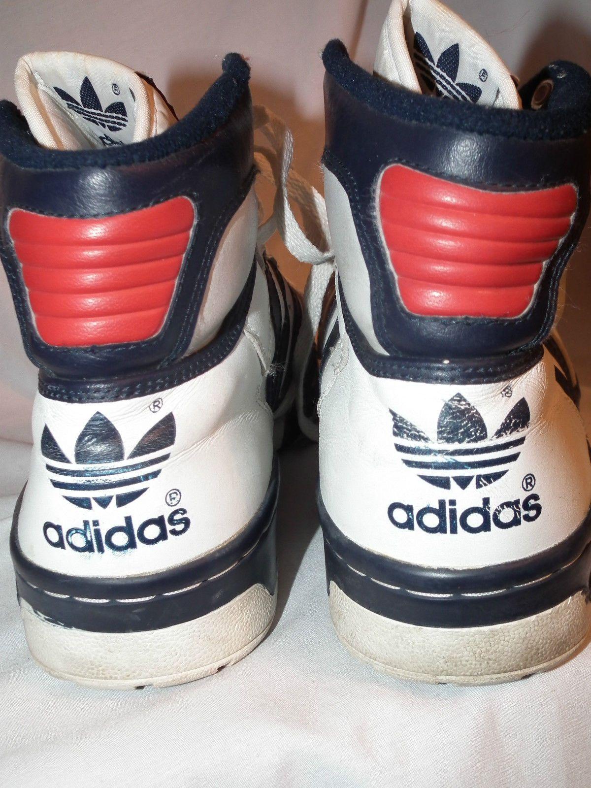 vintage degli anni '80 adidas ewing conduttore hi c cuoio alte scarpe mens
