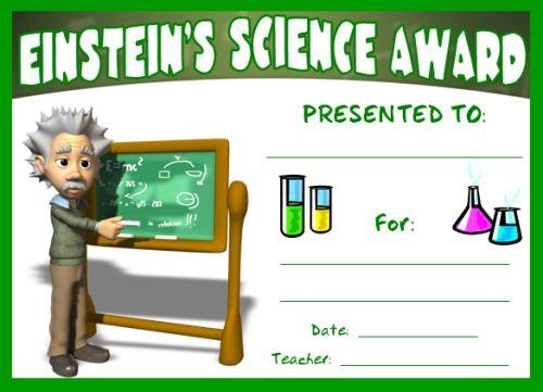 Science Award Certificates Certificate, Teacher and Science fair