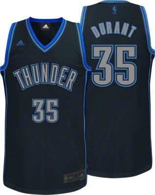 57025e9b3 Oklahoma City Thunder Kevin Durant 35 Black Authentic NBA Jersey Sale