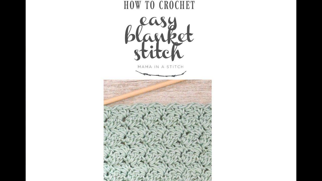 How To Crochet the Easy Blanket Stitch - YouTube | Crochet | Pinterest