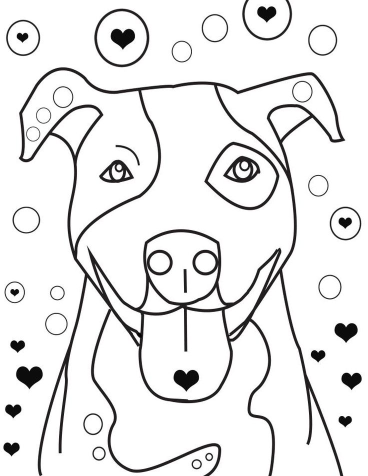pitbull coloring pages coloring pages - Pitbull Coloring Pages