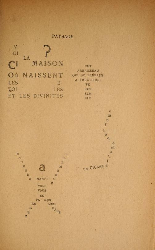 Mira una colección de los Caligramas de Apollinaire - Creators