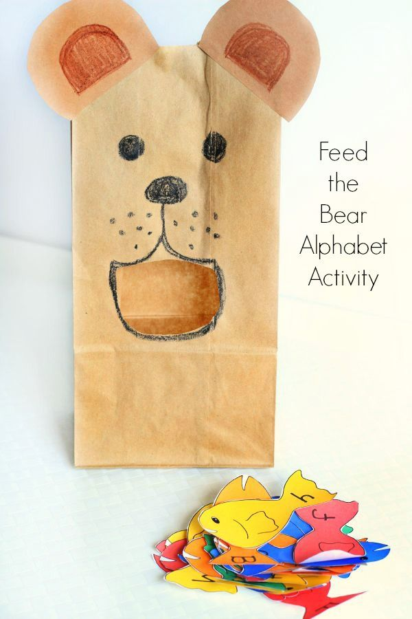 Feed the Bear Alphabet Activity | Fine motor, Alphabet activities ...