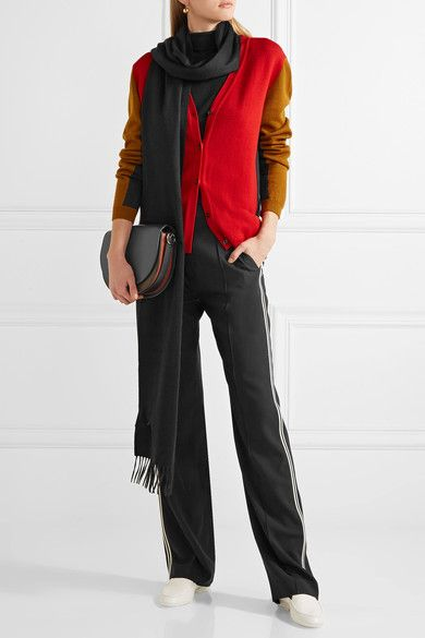 Fringe cashmere scarf Bottega Veneta KRl9fVA1D