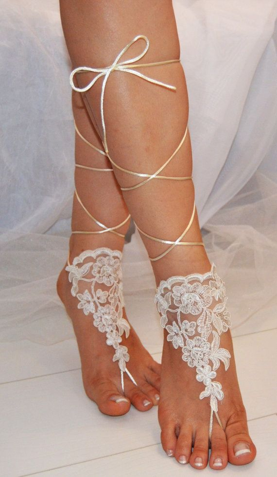 beach shoes, bridal sandals, wedding bridal, barefoot sandles ...
