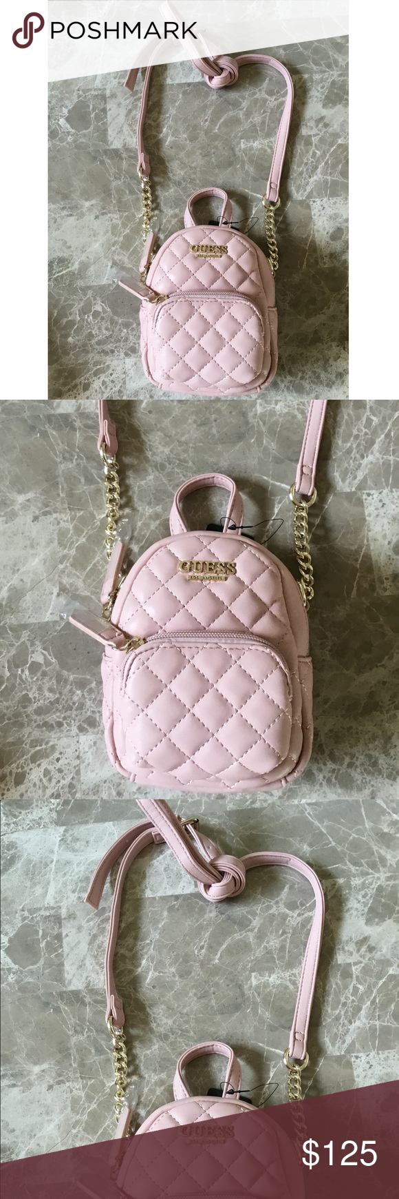 79ec4398368 Light baby pink Guess purse bag Sm mini backpack New with tags Mini small purse  bag