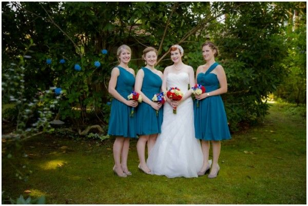 teal blue bridesmaids // photo by Julien Photography