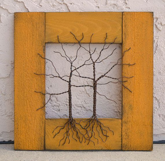 Original Wire Tree Abstract Sculpture Painting by Amy Giacomelli ...