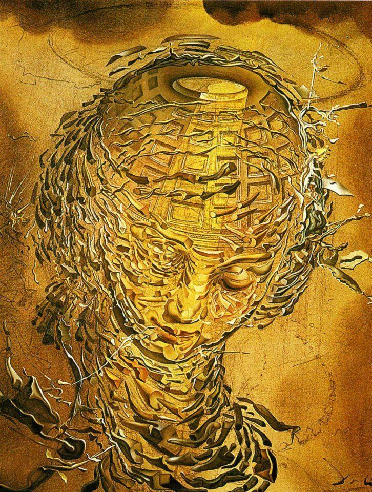 Tete Raphaelesque Eclatee Peinture Surrealiste De L Artiste Salvador Dali 1951 Dali Art Dali Surreal Art