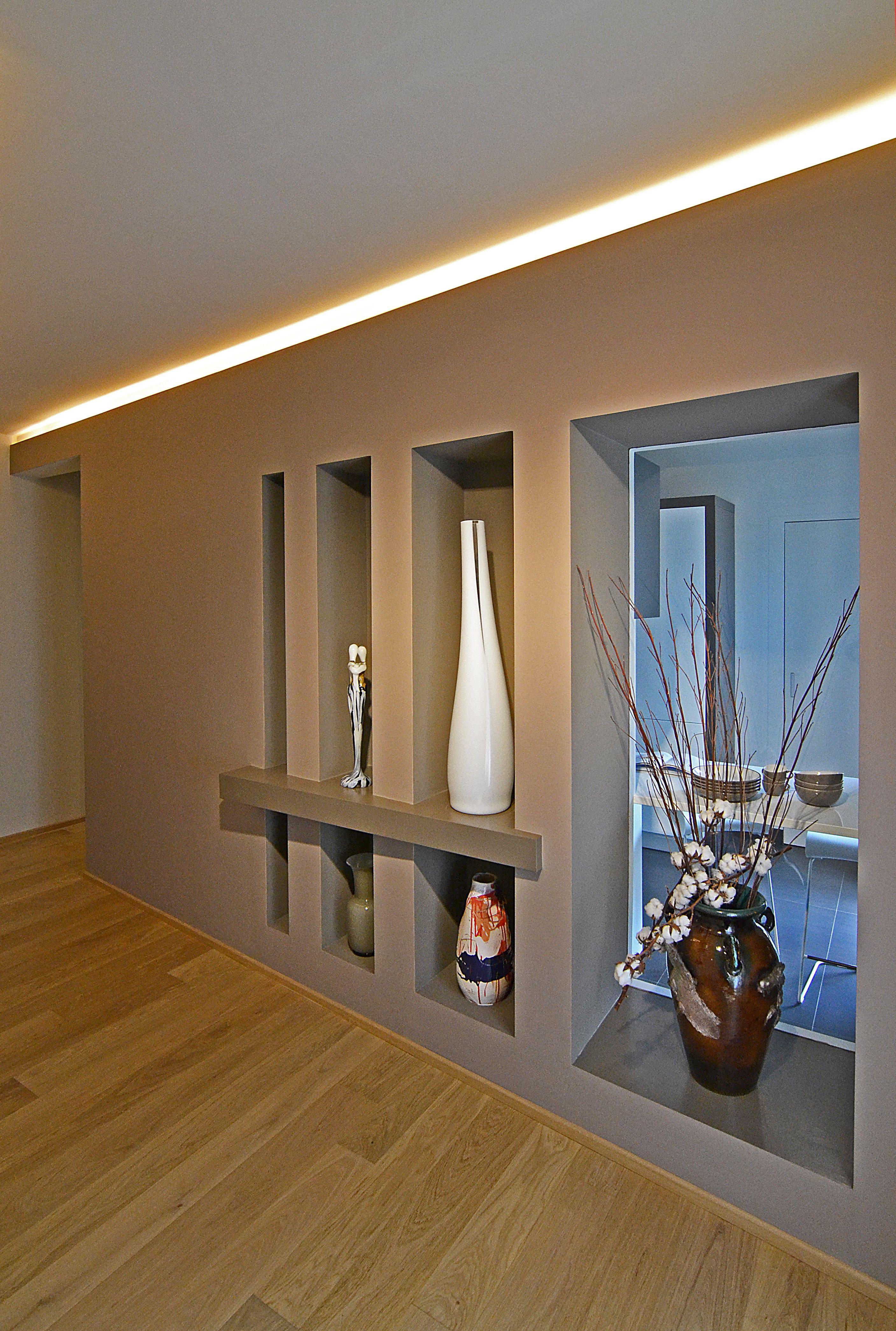 Pareti Bagno In Cartongesso cartongesso #luci #vasi #nicchie interiordesign